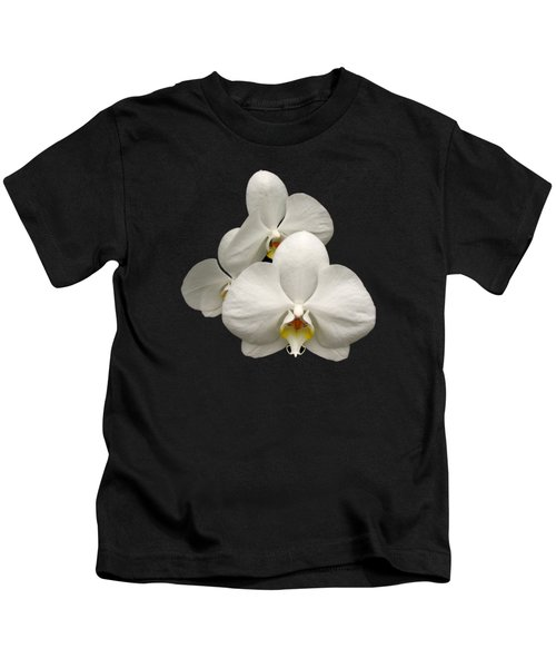 White Orchids Kids T-Shirt by Rose Santuci-Sofranko
