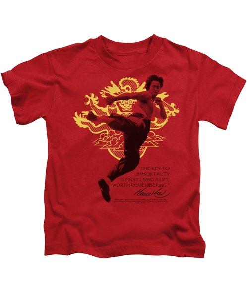 Bruce Lee - Immortal Dragon Kids T-Shirt by Brand A