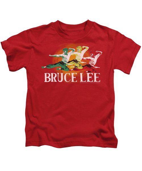 Bruce Lee - Tri Color Kids T-Shirt by Brand A