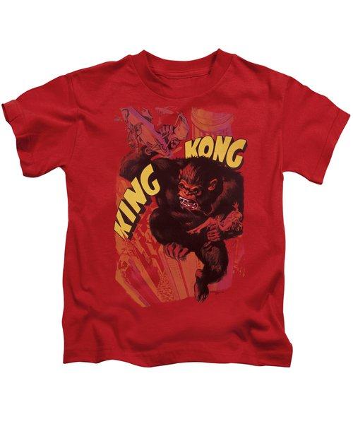 King Kong - Plane Grab Kids T-Shirt by Brand A
