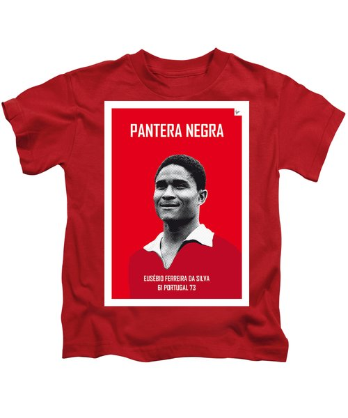My Eusebio Soccer Legend Poster Kids T-Shirt by Chungkong Art