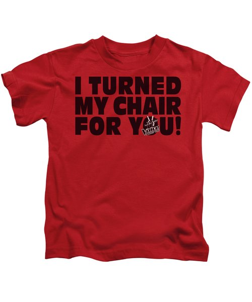 Voice - Turned My Chair Kids T-Shirt by Brand A