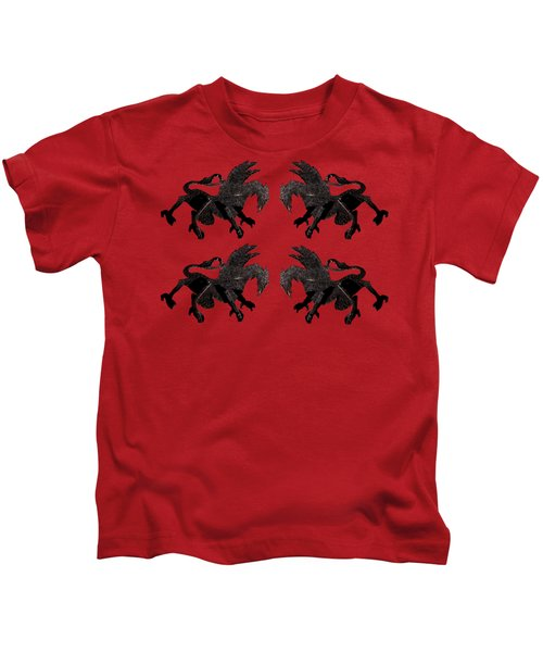 Dragon Cutout Kids T-Shirt by Vladi Alon