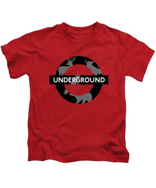 Underground Kids T-Shirt by Alberto RuiZ