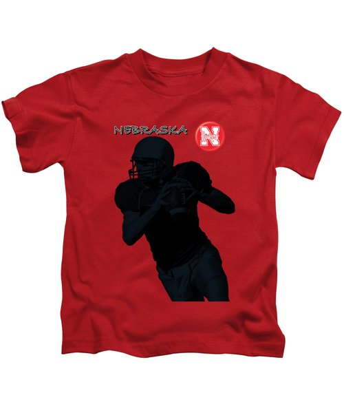 Nebraska Football Kids T-Shirt by David Dehner