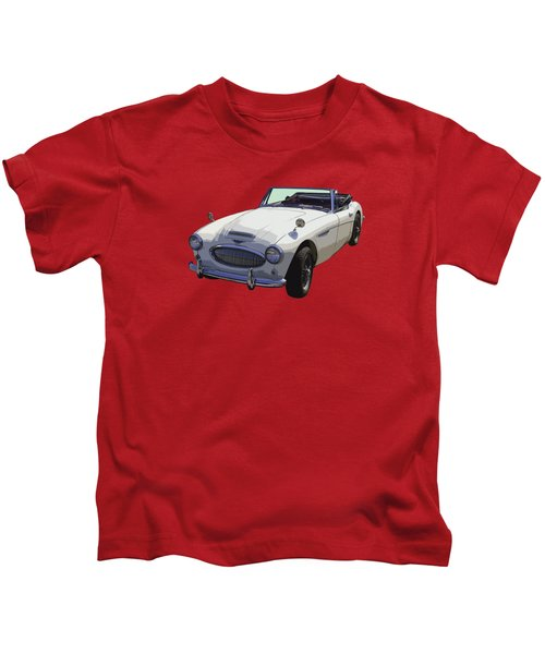 Austin Healey 300 Classic Convertible Sportscar  Kids T-Shirt by Keith Webber Jr