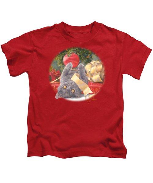 Christmas Surprise Kids T-Shirt by Lucie Bilodeau