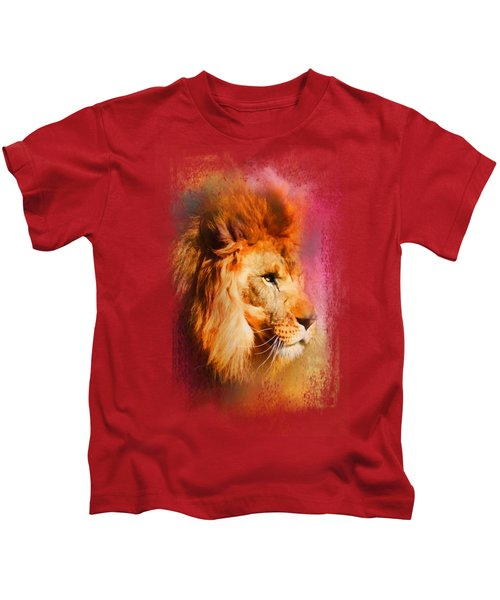 Colorful Expressions Lion Kids T-Shirt by Jai Johnson