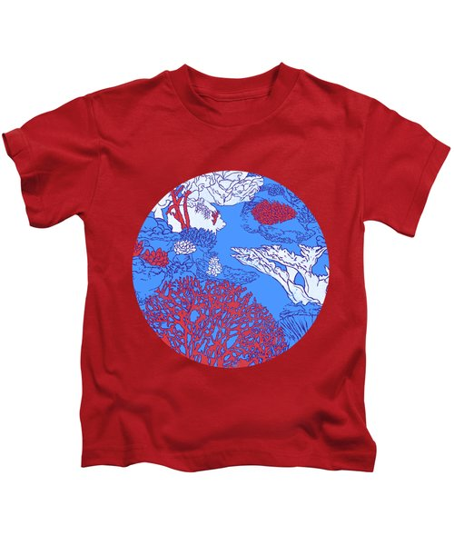 Coral Reef Kids T-Shirt by Evgenia Chuvardina