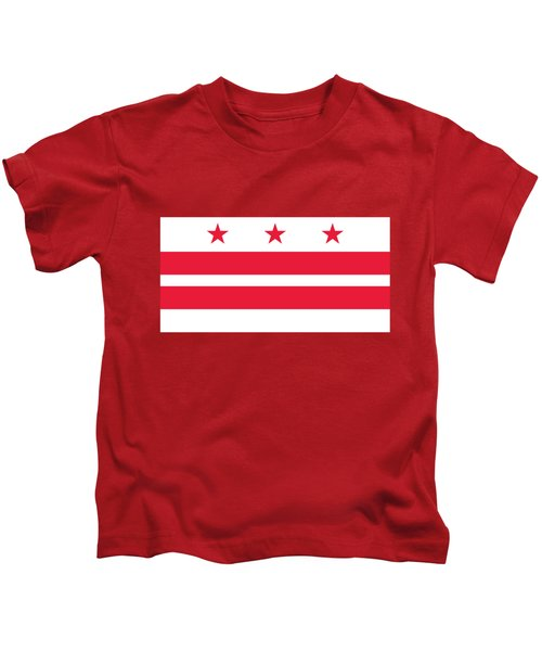 District Of Columbia Kids T-Shirt by Frederick Holiday