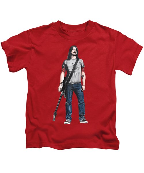 Extraordinary Hero Cutout Kids T-Shirt by Steven Hart