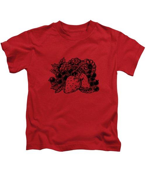 Forest Berries Kids T-Shirt by Irina Sztukowski