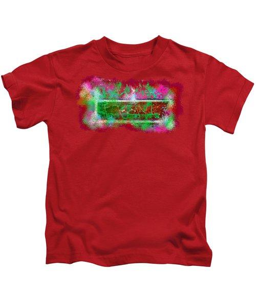 Forgive Brick Pink Tshirt Kids T-Shirt by Tamara Kulish
