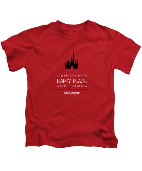 Happy Place Kids T-Shirt by Nancy Ingersoll