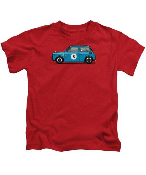 Honda N600 Blue Kei Race Car Kids T-Shirt by Monkey Crisis On Mars