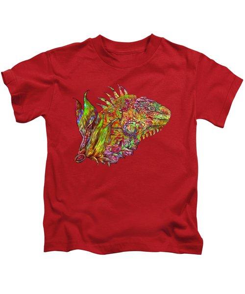 Iguana Hot Kids T-Shirt by Carol Cavalaris