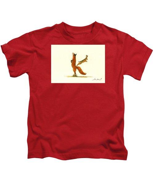 K Letter Woodland Alphabet Kids T-Shirt by Juan  Bosco