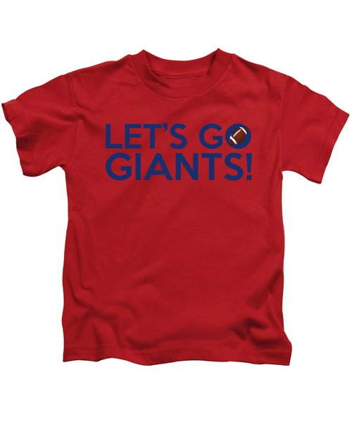 Let's Go Giants Kids T-Shirt by Florian Rodarte