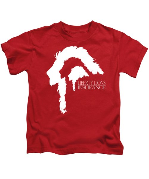 Liberty Lions Logo Kids T-Shirt by Ryan Anderson
