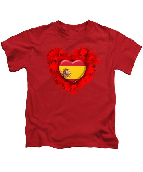 Love Spain Kids T-Shirt by Alberto RuiZ