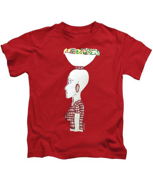 Market Woman1 Kids T-Shirt by Gerri McCritty