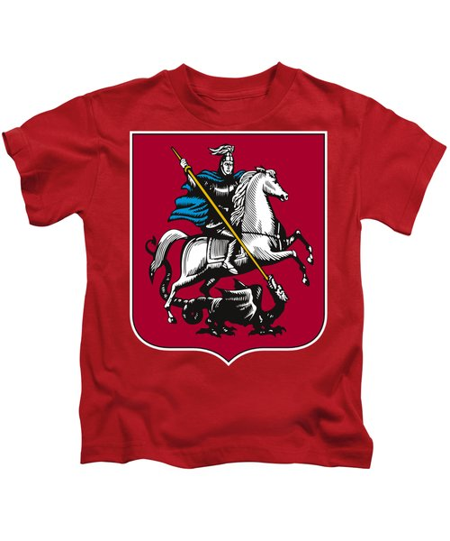 Moscow Coat Of Arms Kids T-Shirt by Frederick Holiday
