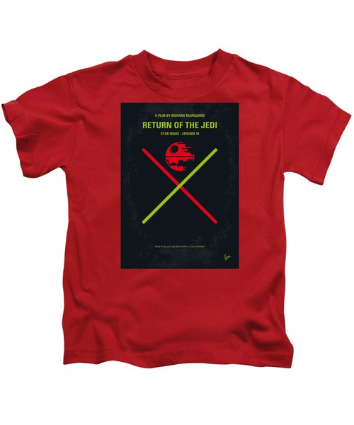 No156 My Star Wars Episode Vi Return Of The Jedi Minimal Movie Poster Kids T-Shirt by Chungkong Art