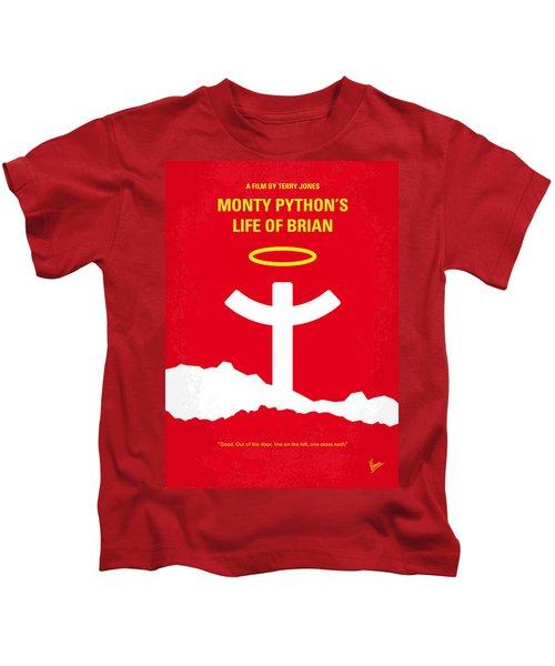 No182 My Monty Python Life Of Brian Minimal Movie Poster Kids T-Shirt by Chungkong Art