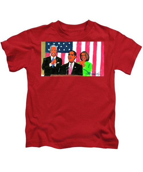 Obama's State Of The Union '10 Kids T-Shirt by Candace Lovely