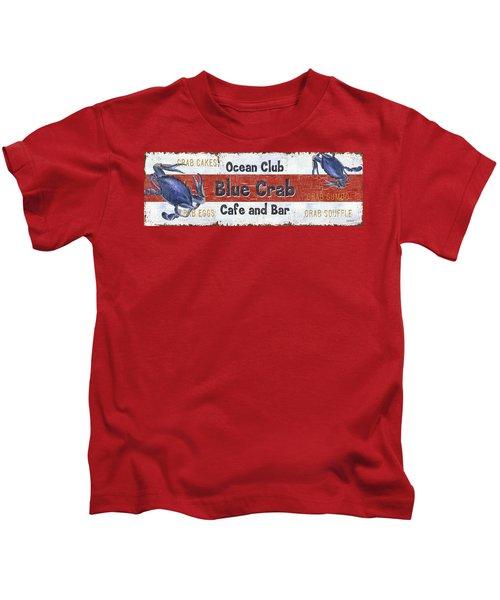 Ocean Club Cafe Kids T-Shirt by Debbie DeWitt