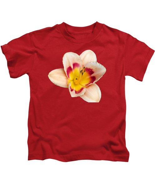 Orange Yellow Lilies Kids T-Shirt by Christina Rollo