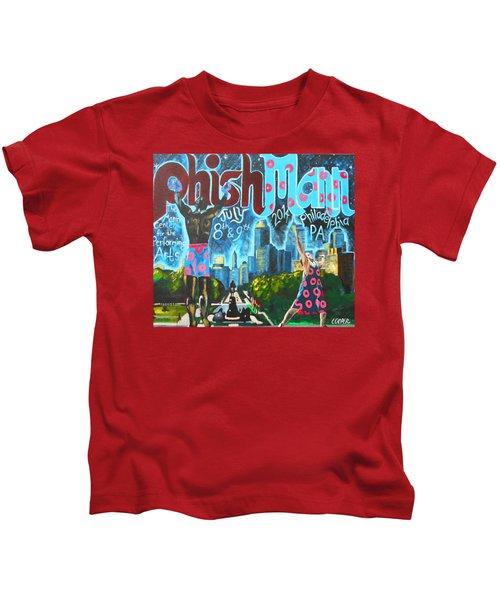 Phishmann Kids T-Shirt by Kevin J Cooper Artwork