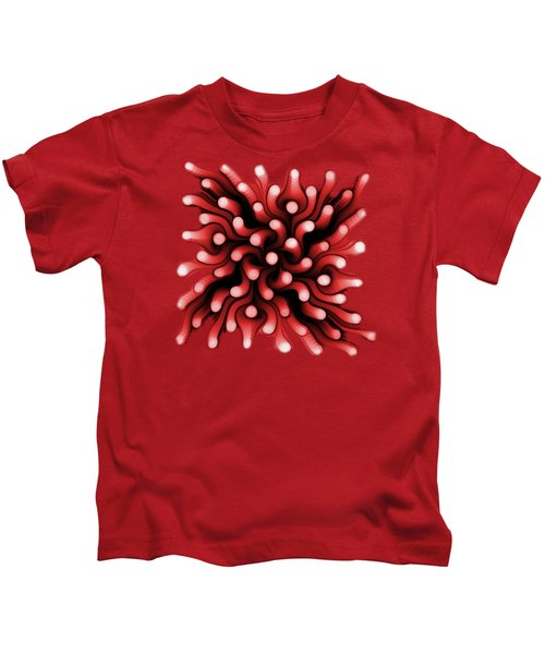 Red Sea Anemone Kids T-Shirt by Anastasiya Malakhova