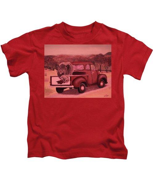 Ridin' With Razorbacks 3 Kids T-Shirt by Belinda Nagy