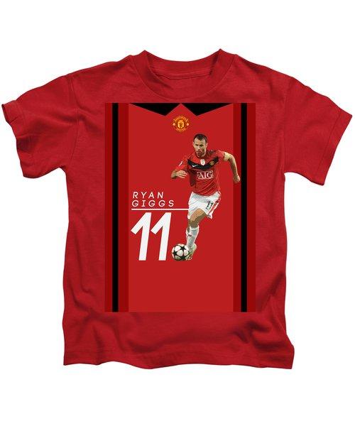 Ryan Giggs Kids T-Shirt by Semih Yurdabak