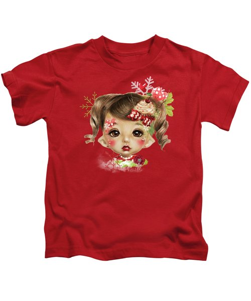Sabrina - Elf  Kids T-Shirt by Sheena Pike