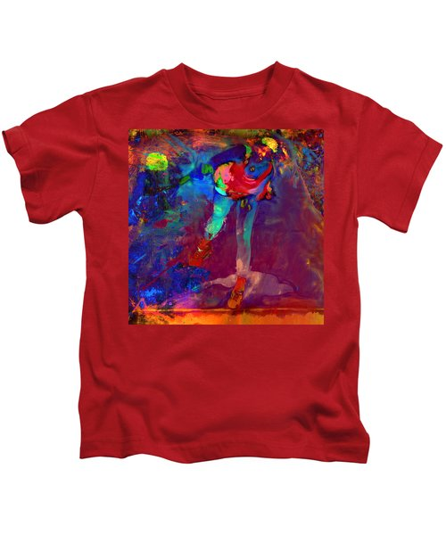 Serena Williams Return Explosion Kids T-Shirt by Brian Reaves