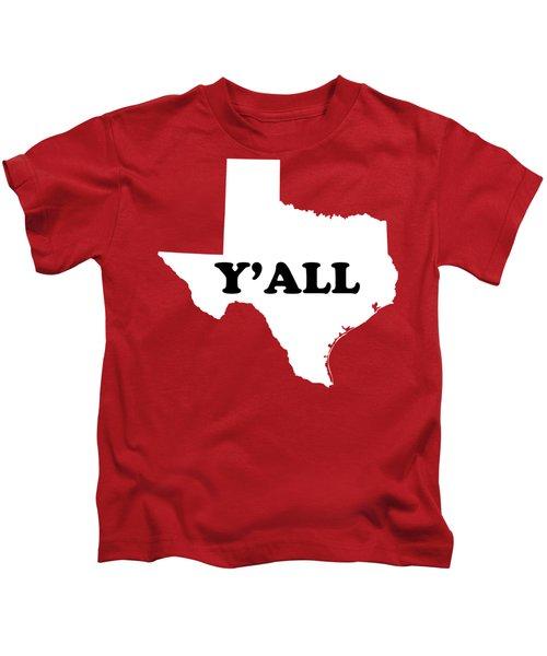 Texas Yall Kids T-Shirt by Michelle Murphy
