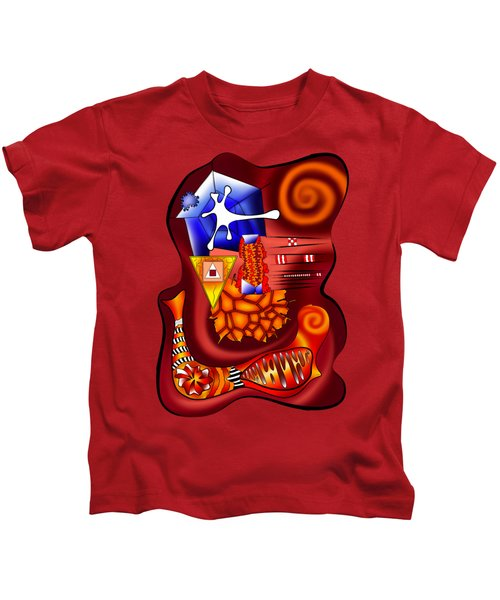 Versophomus V3 - Abstract Digital Painting Kids T-Shirt by Cersatti