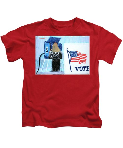 Voting Booth 2008 Kids T-Shirt by Candace Lovely