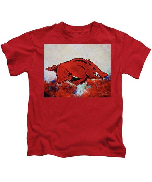 Woo Pig Sooie Kids T-Shirt by Belinda Nagy
