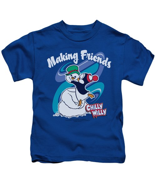 Chilly Willy - Making Friends Kids T-Shirt by Brand A