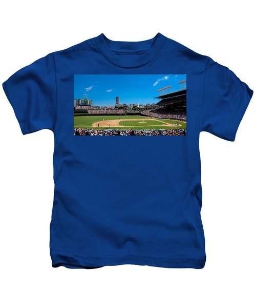 Day Game At Wrigley Field Kids T-Shirt by Anthony Doudt
