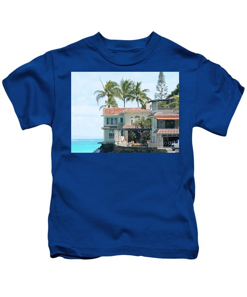 House At Land's End Kids T-Shirt by Dona  Dugay