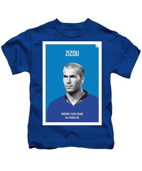 My Zidane Soccer Legend Poster Kids T-Shirt by Chungkong Art