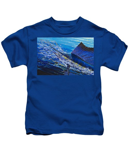 Sail On The Reef Off0082 Kids T-Shirt by Carey Chen