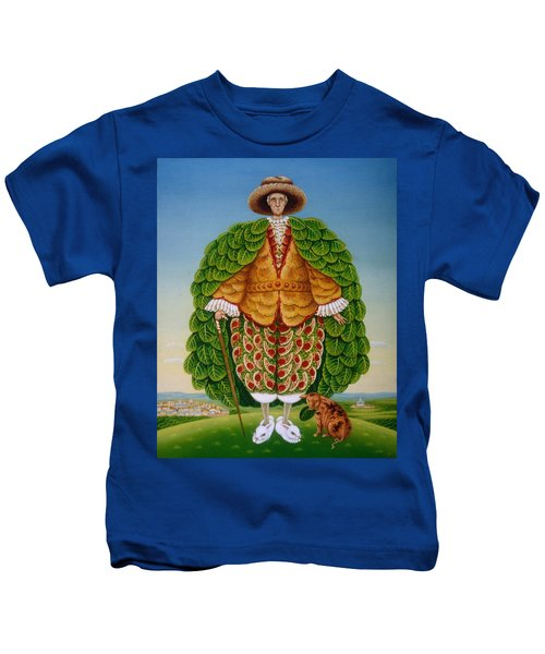 The New Vestments Ivor Cutler As Character In Edward Lear Poem, 1994 Oils And Tempera On Panel Kids T-Shirt by Frances Broomfield
