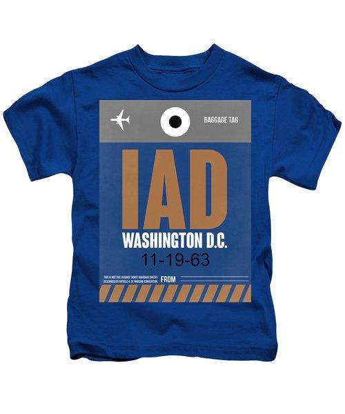 Washington D.c. Airport Poster 4 Kids T-Shirt by Naxart Studio