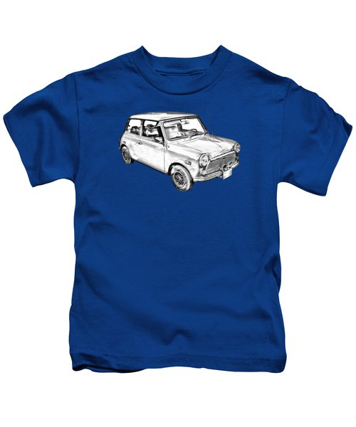 Mini Cooper Illustration Kids T-Shirt by Keith Webber Jr