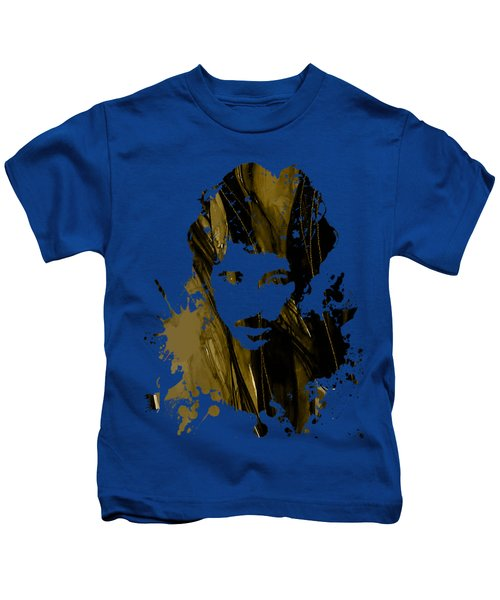 Bruce Springsteen Collection Kids T-Shirt by Marvin Blaine